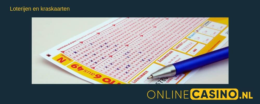 Loterijen en kraskaarten