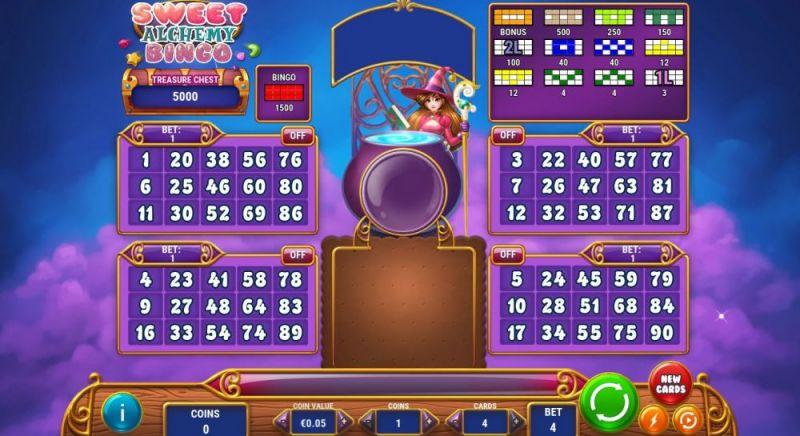 OnlineCasino.nl Sweet Alchemy bingo Play 'n Go screenshot