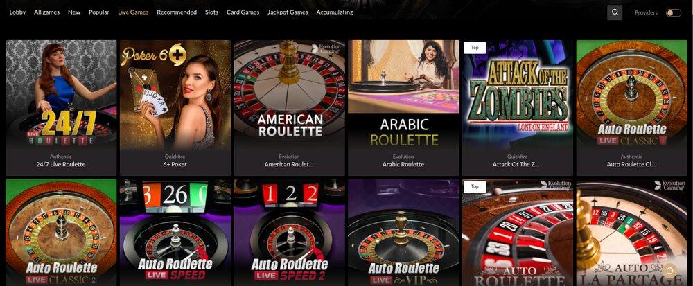 premier casino live casino